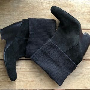 EUC Sweet sweater cuff Kimchi black suede boot